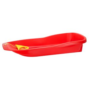 RED SLED WITH METAL SLEIGH RUNNERS